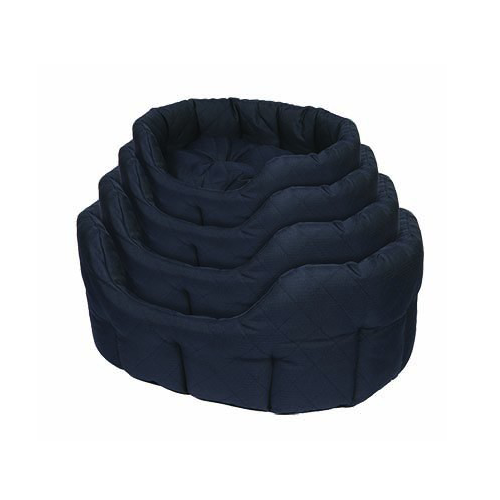 Kudos Wetherby Quilted Oval Bed Navy Blue 20