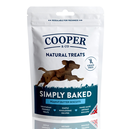 Cooper & Co Treats Peanut Butter Biscuits 100g