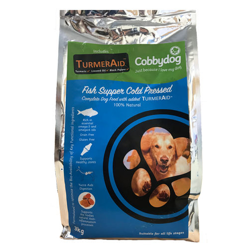 Cobbydog Fish Supper + Turmeraid 3kg