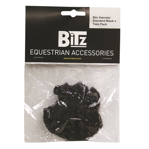 BITZ Hair Net Black - Twin Pack