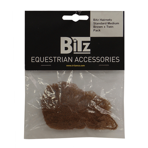 BITZ Hair Net Brown - Twin Pack