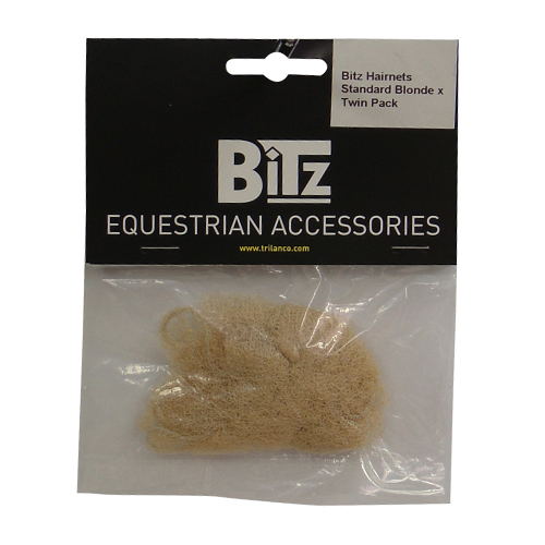 BITZ Hair Net Blonde - Twin Pack