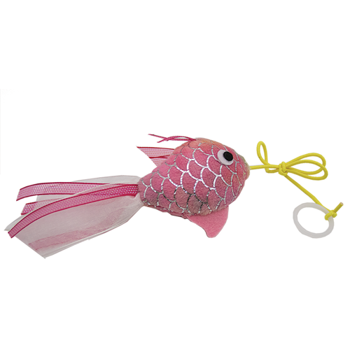 Happy Pet Mermaid Cat Goldfish Toy Pink
