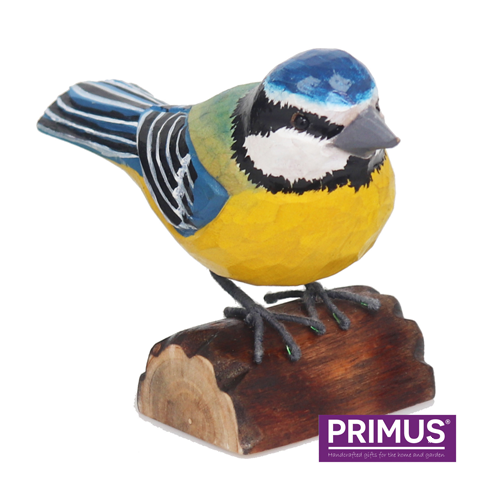 Primus RSPB Hand Carved Wooden Blue Tit