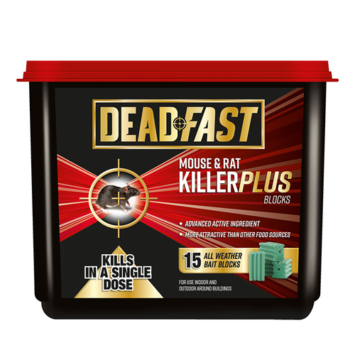 Deadfast Mouse & Rat Killer Plus Block 15 Pack